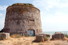 Martello Tower - Old fortification on beach near Eastbourne Royalty Free Stock Photography