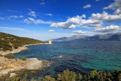 Martello Tower, St Florent, Corsica Stock Images