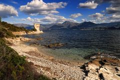 Martello Tower, St Florent, Corsica Stock Image