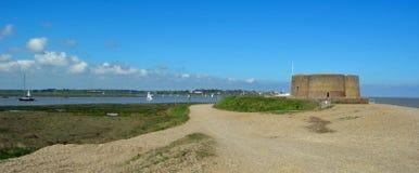 Martello-Turm Aldeburgh-Strand Lizenzfreies Stockfoto
