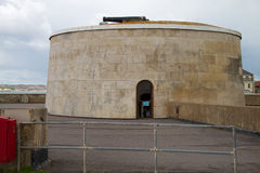 Martello-Turm benutzt als Museum stockbilder