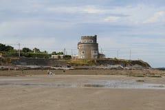 Martello wierza Portmarnock plaży Dublin północ Irlandia obraz stock