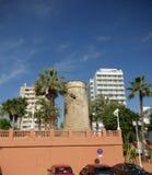 Martello wierza w Fuengirola na Costa Del Zol w Hiszpania Zdjęcie Stock