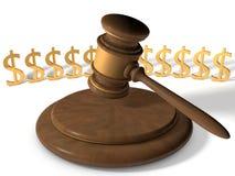 Martelo de justiça Foto de Stock Royalty Free