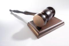 Martelo de madeira do juiz Foto de Stock