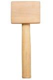 Martelo de madeira isolado no branco Foto de Stock