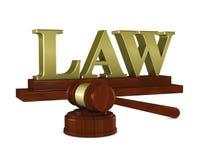 Martelo do juiz e ilustração do vetor