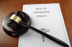 Martelo do seguro de saúde Imagens de Stock Royalty Free