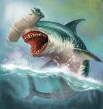 Martelo do tubarão ilustração do vetor