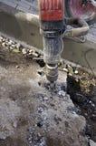 Martelo pneumático do plugger fotografia de stock