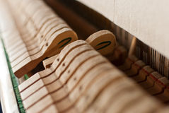 Martelo preto ereto do piano Foto de Stock Royalty Free
