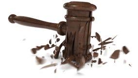 Martelo quebrado do juiz Fotos de Stock Royalty Free