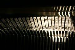 Martelos da máquina de escrever Fotografia de Stock Royalty Free
