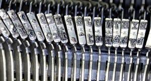 Martelos para escrever a máquina de escrever Fotografia de Stock Royalty Free