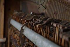 Martelos velhos do piano Imagens de Stock