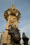 Marten Toonder monument i Rotterdam Arkivfoto