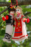Martenitsa -欢迎春天的传统保加利亚标志 库存照片