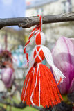 Martenitsa on a tree royalty free stock images