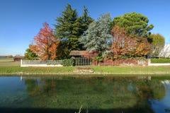 Martesana Mailand, Italien: Herbst Lizenzfreie Stockfotos