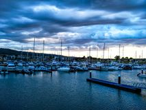 Sunset harbour Stock Photography