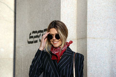Martha graeff Milano,milan fashion week streetstyle autumn winter 2015 2016 Stock Photos