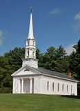 Martha Mary Chapel. A white clapboard New England church, in Sudbury, MA royalty free stock images