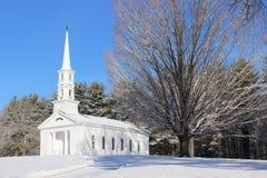 Martha Mary Chapel in Winter Royalty Free Stock Photo