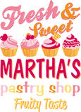 Martha's pastry shop Stock Photo