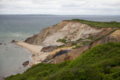 Martha's Vineyard Cliffside. A cliffside on Martha's Vineyard leading down to the beach Royalty Free Stock Photography