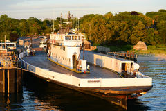 Martha's Vineyard Ferry at Woods Hole, MA stock photography