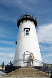 Martha`s Vineyard. MA-September 2, 2016: Scenic view of `s Edgartown Harbor Light. The 2010 census shows that 16,535 residents call  home Royalty Free Stock Photography