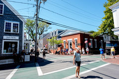 Martha`s Vineyard. MA-September 2, 2016: Street scene in . The 2010 census shows that 16,535 residents call  home Stock Photography
