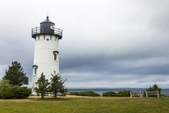 Martha`s Vineyard, Massachusetts. East Chop Telegraph Hill Light, a lighthouse near the town of Oak Bluffs in the island of Martha`s Vineyard Royalty Free Stock Image