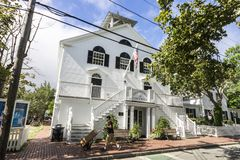 Martha`s Vineyard, Massachusetts. Edgartown Town Hall Stock Images