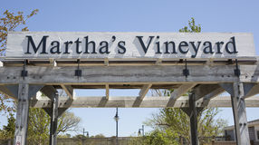 Martha's Vineyardtecken Arkivbild