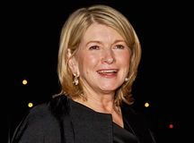Martha Stewart. Social arbiter, writer, tv personality, and lifestyle maven Martha Stewart arrives for the Vanity Fair party saluting the 7th Annual Tribeca Film Stock Image