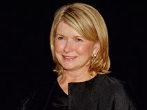 Martha Stewart. Social arbiter, writer, tv personality, and lifestyle maven Martha Stewart arrives for the Vanity Fair party saluting the 7th Annual Tribeca Film Royalty Free Stock Photo