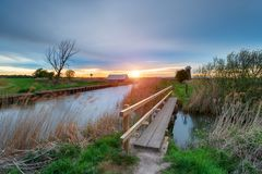 Martham vasto sul fiume Thurne in Norfolk Broads fotografie stock