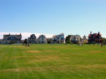 Marthas Vineyard, Oak Bluffs 2. A picture of Ocean Park in Oak Bluffs, Martha's Vineyard, with the classic victorian houses which circle the park in the Stock Images