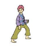 Martial art boy cartoon. Character of martial art boy cartoon Stock Photography