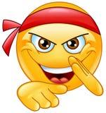 Martial art emoticon Royalty Free Stock Photo