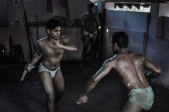 Martial art in Kerala Royalty Free Stock Image