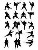 Martial Art Silhouettes. Taekwondo and Karate, art vector silhouettes design Royalty Free Stock Photography