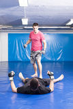 Martial art training Stock Photos