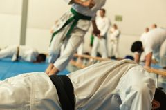 Martial art training stock images