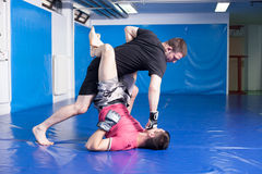 Martial art training Royalty Free Stock Photo