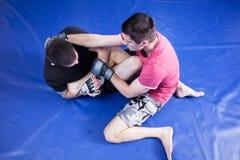 Martial art training Stock Photo
