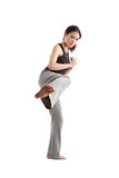 Martial art woman Stock Images