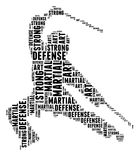 Martial art in word cloud Stock Images