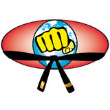 Martial art World Cup colored simbol. Vector. Royalty Free Stock Image
